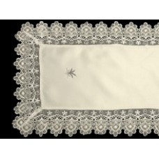 Lavender and Lace Table Runner - Ivory - 40 x 90 cm