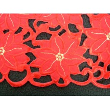 Red Poinsettia Tablecloth 90 x 90cm