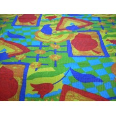 Rio Multi Cotton Seersucker Round Tablecloth - 145 cm Diameter