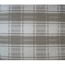 Seersucker Check Tablecloth - Rectangle - 145 x 185 - Taupe