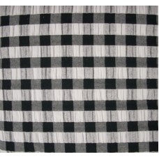Seersucker Gingham Tablecloth - Rectangle - 145 x 185 - Black