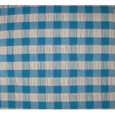 Seersucker Gingham Tablecloth - Square - 145 x 145 - Blue
