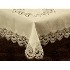 Victoria Tablecloth - 180 cm Round - Ecru - Victoria Linen Australia