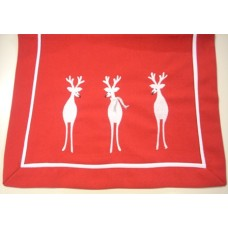 White Reindeer Table Runner 40 x 75 cm