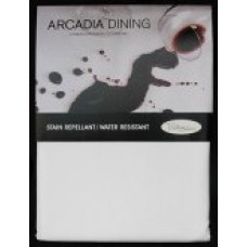 Arcadia Dining Tablecloth 150 cm Square - White