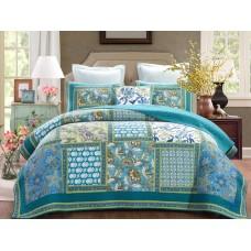 Aquamarine King Quilt Set