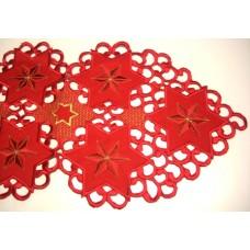 Red Christmas Star Table Runner 35 x 150 cm