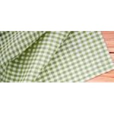 Gingham Check Tablecloth - 180 cm round - Taupe