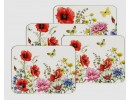 Poppy garden placemats