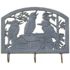 Cast Aluminium Metal wall art or Coat Rack Kookaburra