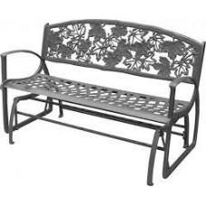 Cast Iron Glider Bench - Maple Leaf