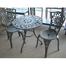 3 Piece Cast Iron Garden setting