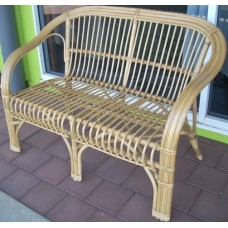 2 Seater Honey Cane Chair