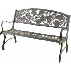 Cast Iron Bench - Maple Leaf