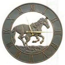 Running Horses Outdoor Clock