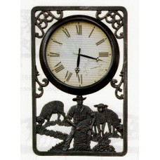 Shearing Outdoor Clock with Thermometer