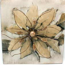 Contemporary Metal Flower Wall Hanging