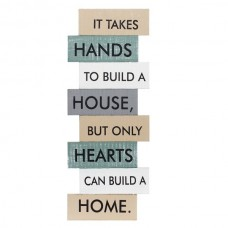 Hearts Can Build a Home Wall Art