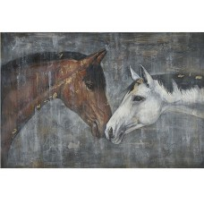 Horses Nuzzling - Oil Painting on Canvas