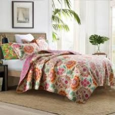 Floral Collage Quilted Coverlet