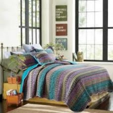 Morocco Blue Quilted Coverlet