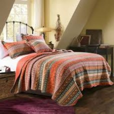 Morocco Red Quilted Coverlet