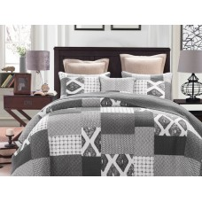 Stonewash Quilted Coverlet Set