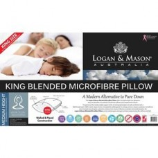 Logan & Mason King Microfibre Pillow