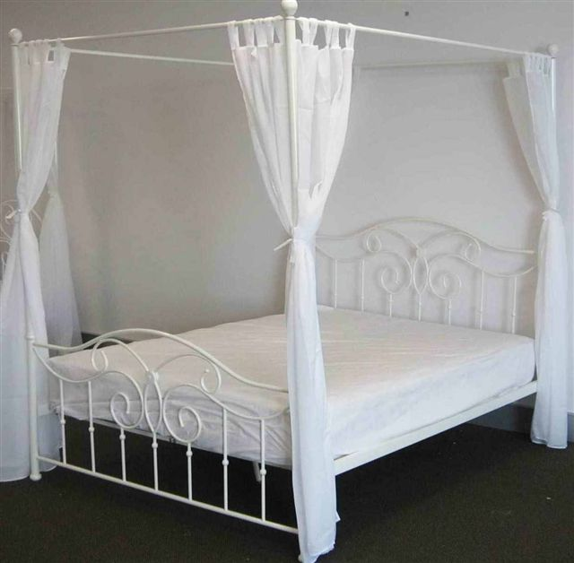 Chrome Four Poster Bed Limelight Lyra Double Chrome Bed